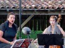 Concert d'Amours par le DUO VOCE IN GAMBA avec Silvia de Maria en tournée dans le Gers Aout 2013